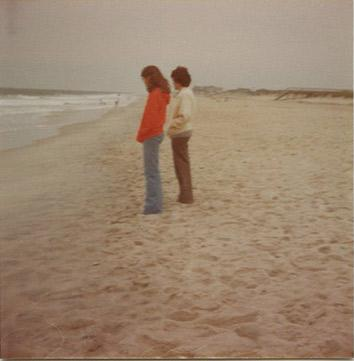 C. 1977, on the Delaware beach.