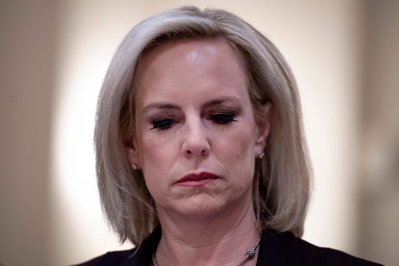 Kirstjen Nielsen testifies before the House Homeland Security Committee on border security on Capitol Hill in Washington, D.C. on March 6, 2019.