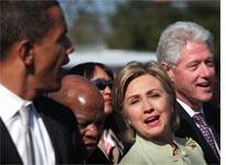 Barack Obama with Hillary and Bill Clinton. Click image to expand.
