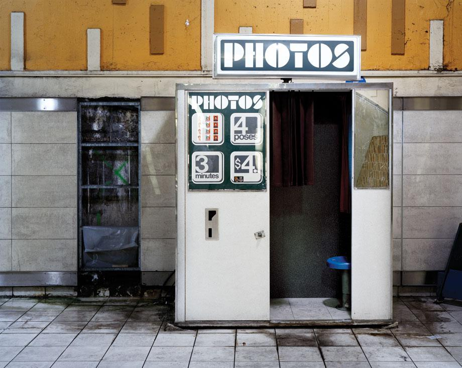 Photo booth, Metro Station Montreal Quebec 2010