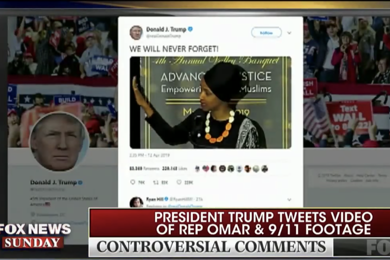 "Trump Ilhan Omar video: Fox's Wallace only ""comfortable"