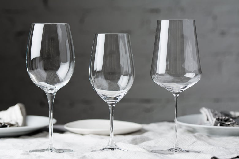 three different glasses
