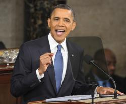 US President Barack Obama delivers the annual State of the Union address for 2011.