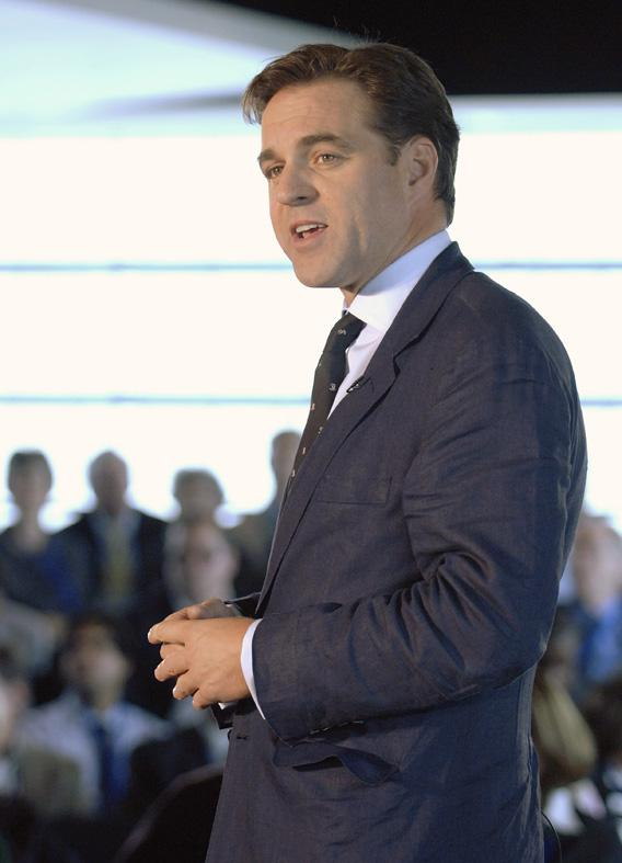 Niall Ferguson, a British historian, addresses the financial collapse of 2008 at the Newseum in Washington, October 1, 2009.