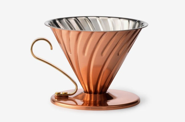 Hario Copper Pour Over with Brass Handle.