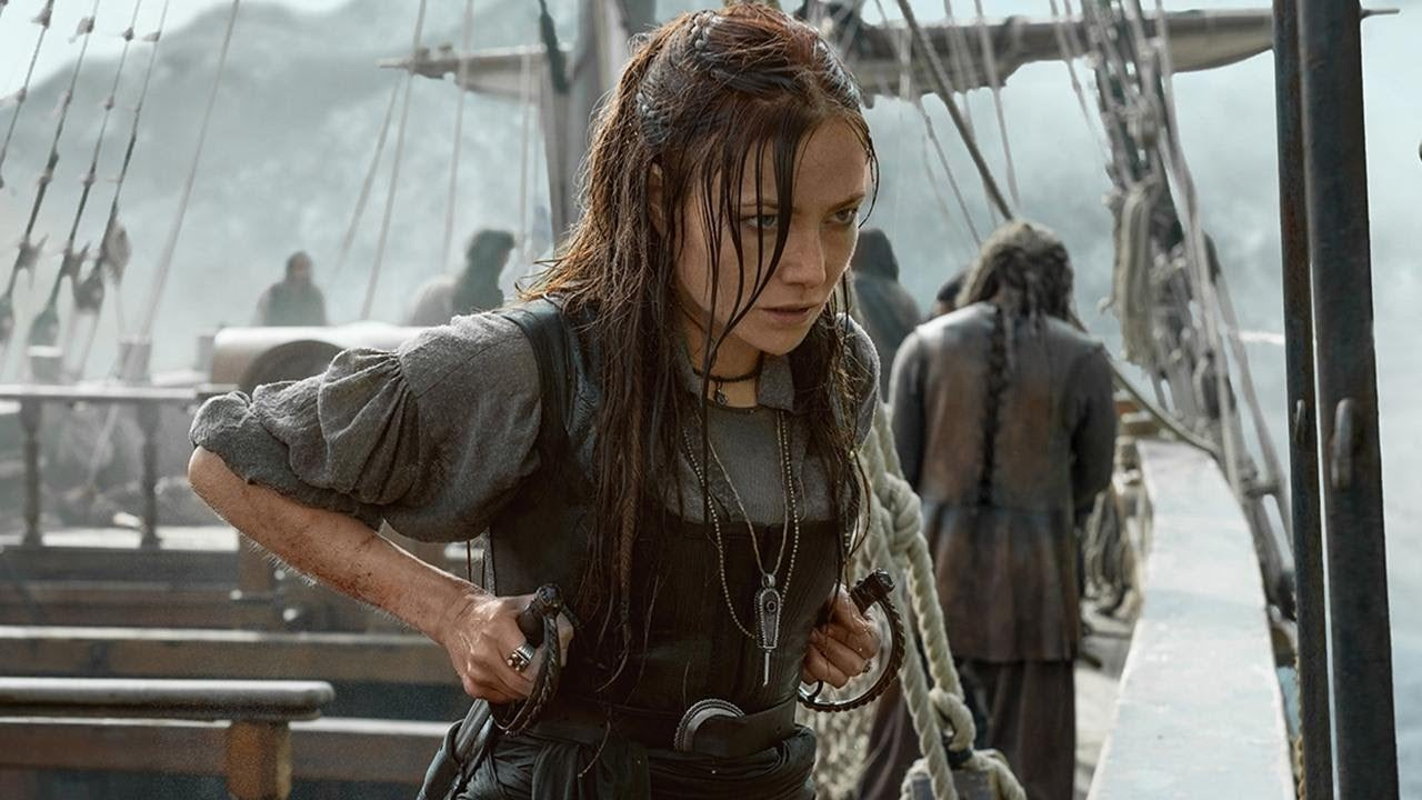 Clara Paget as Anne Bonny in Black Sails Season 4.