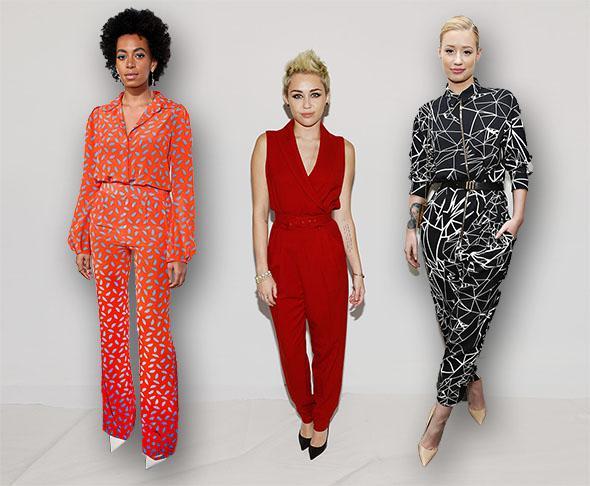 Solange Knowles, Miley Cyrus and Iggy Azalea.