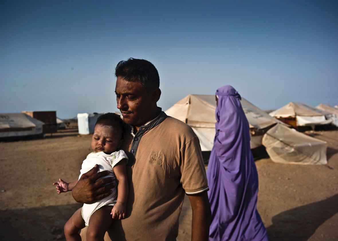 Obock refugee camp, where over 4,000 Yemenis have sought refuge