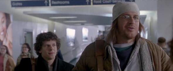 Jesse Eisenberg as David Lipsky and Jason Segel as David Foster Wallace