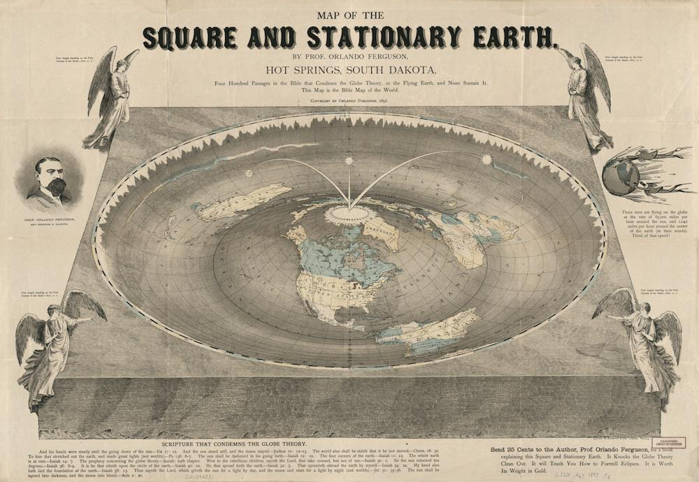 History of flat earth theory: Orlando Ferguson's map of the ... on business map, apartment map, home map, land map, projection map, wall map, treasure map, red map, plate map, tube map, fake map, big map, full map, large map, classic map, thematic map, antarctica map, empty map,