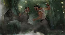 Logan (Hugh Jackman) and Victor Creed (Liev Schreiber) face off for the ultimate battle—against each other. Click image to expand.