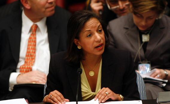 U.S. Ambassador to the U.N. Susan Rice speaks during a Security Council meeting on the situation in the Middle East at the United Nations headquarters in New York May 11, 2009.