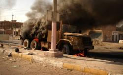 A suicide car bomber