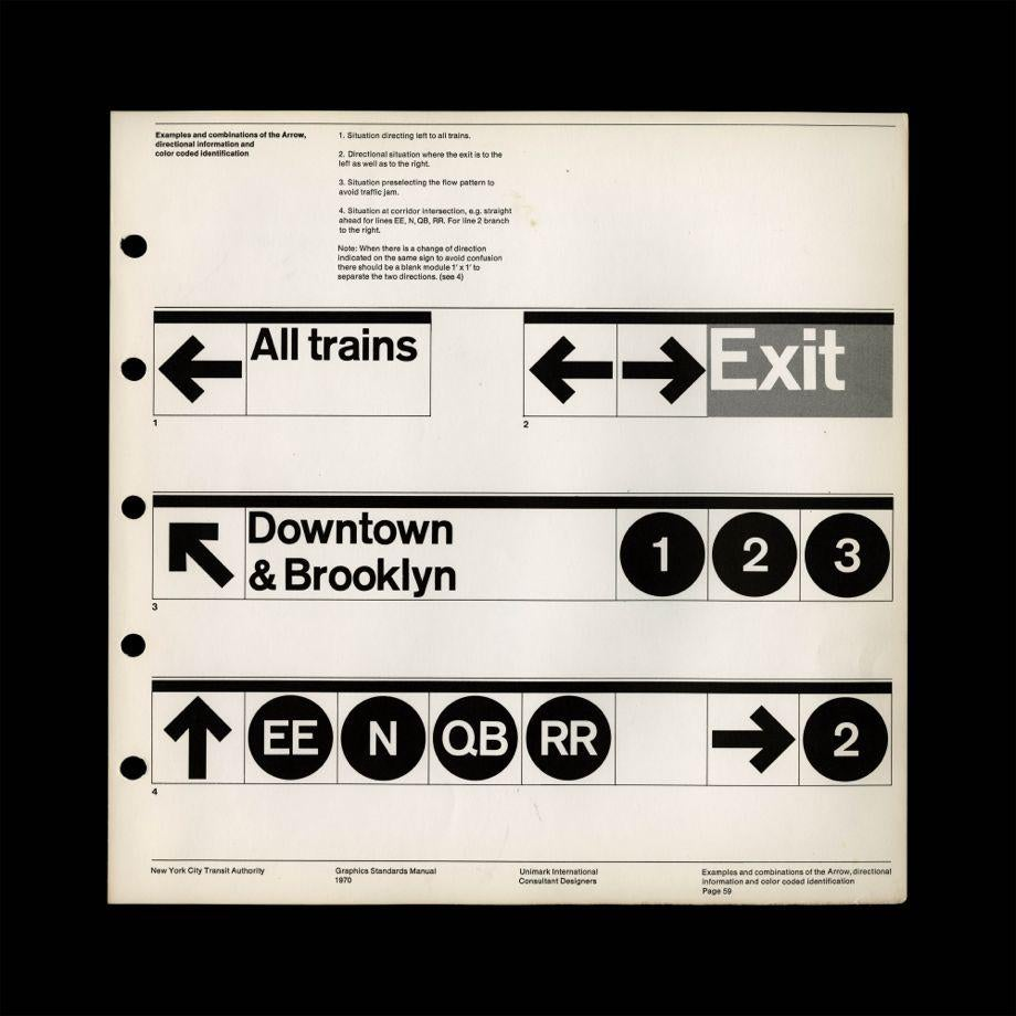 NYC Transit Authority Graphics Standards Manual, by Massimo