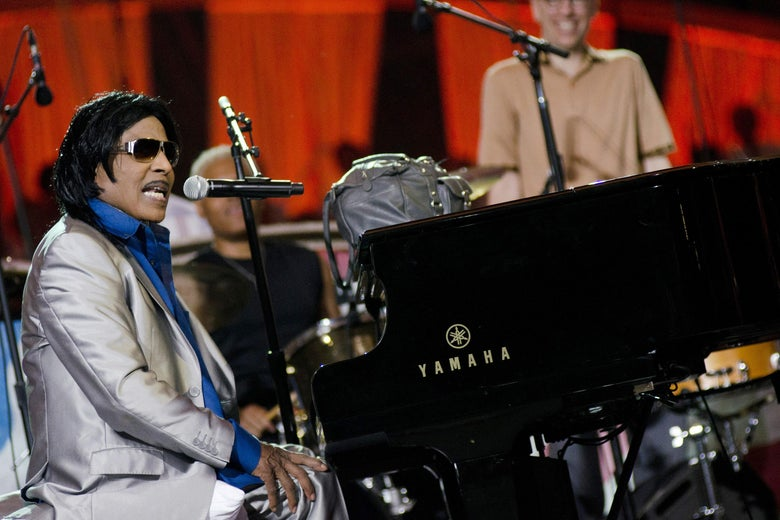 "WASHINGTON, DC - JULY 03: Little Richard performs during the annual PBS ""A Capitol Fourth"" concert at the US Capitol on July 3, 2011 in Washington, DC. (Photo by Kris Connor/Getty Images)"