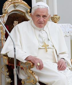 Pope Benedict XVI. Click image to expand.