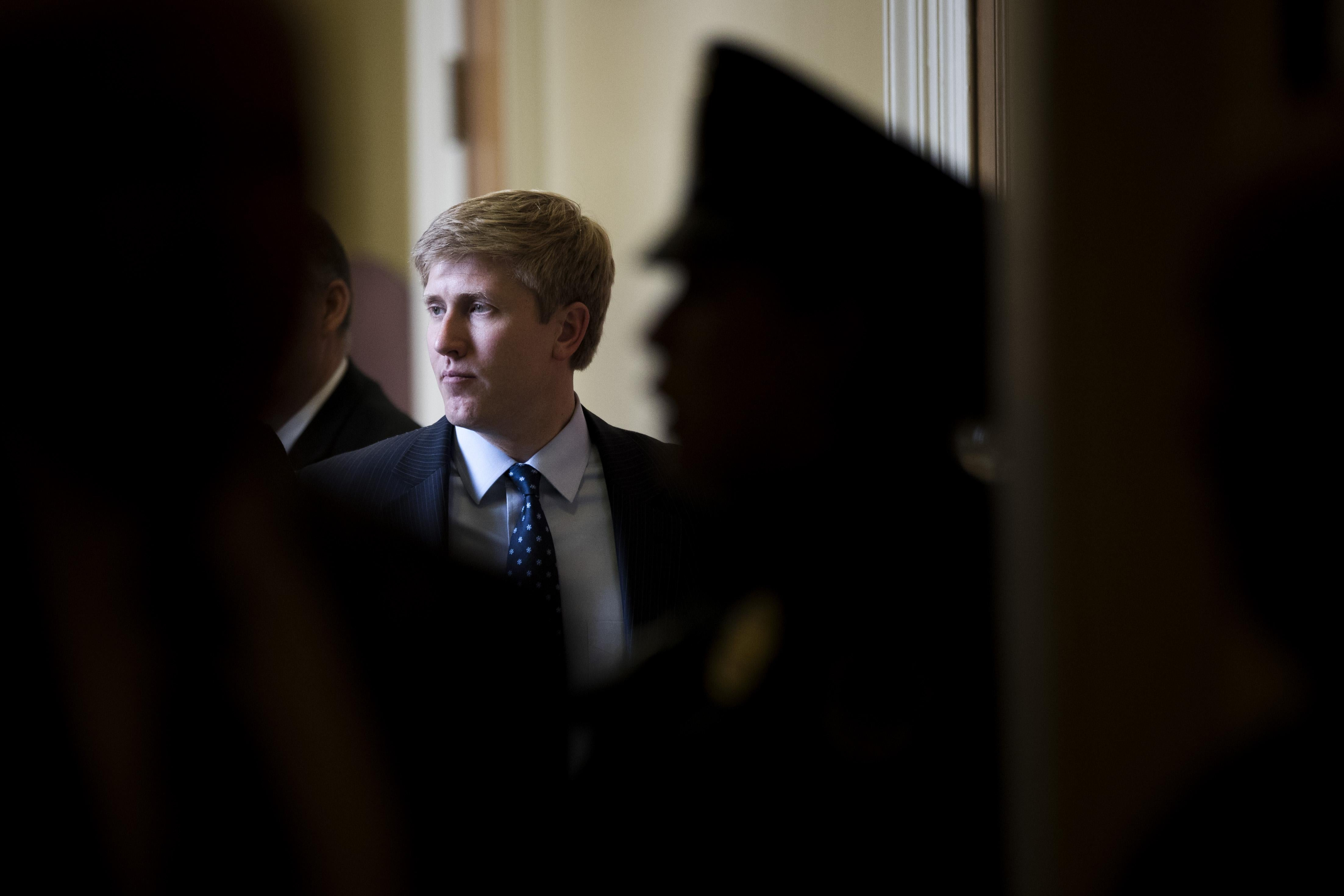 Nick Ayers, the chief of staff to Vice President Mike Pence, stands outside a meeting with Senate Republicans on Capitol Hill, December 5, 2017 in Washington, D.C.