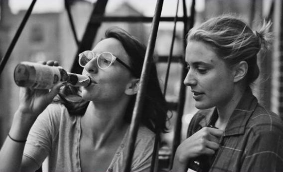 Mickey Summer as Sophie and and Greta Gerwig as Francs, in Frances Ha