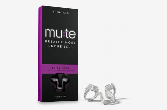 Rhinomed Mute Nasal Dilator for Snoring Reduction (Pack of Three).