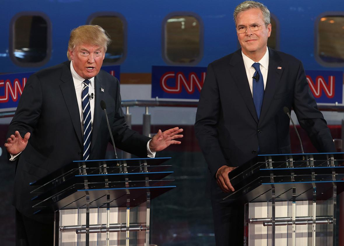 Jeb Bush, Donald Trump Debate September 2015.