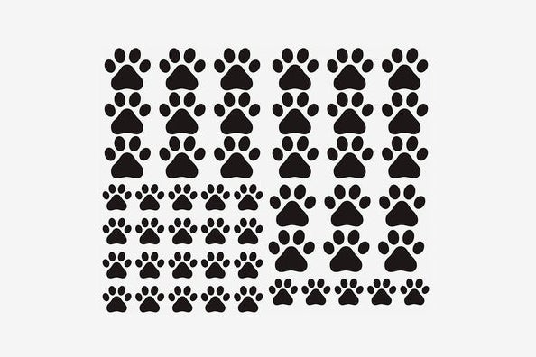 JURUOXIN Dog Paws Vinyl Wall Decals, 49 Pieces