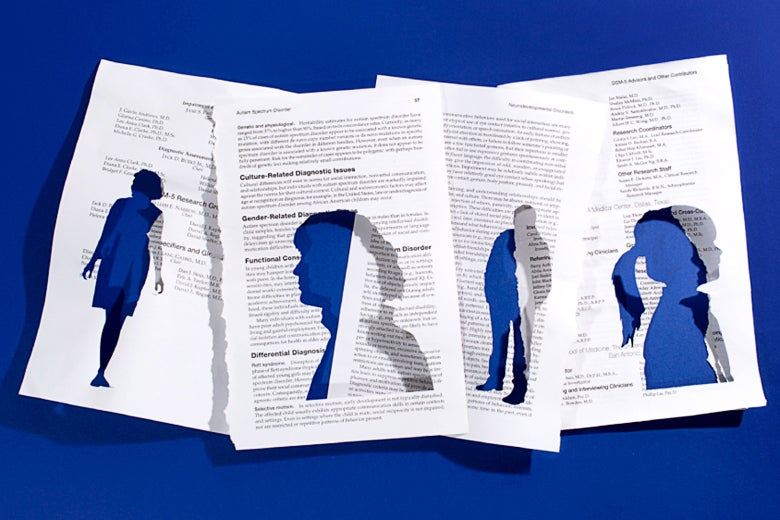A book with cutout pages.