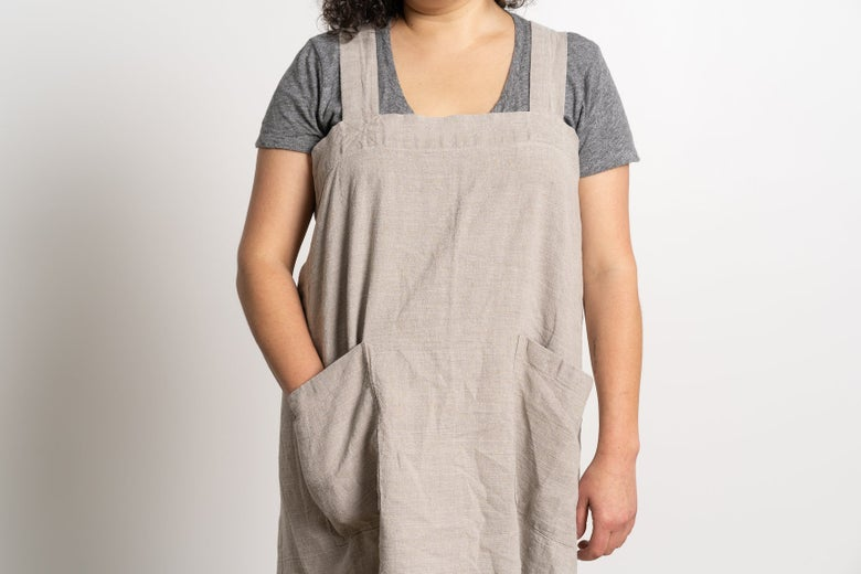 Rough Linen Pinafore