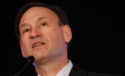 U.S. Supreme Court Justice Samuel Alito delivers an address at the American Bankruptcy Institute's 26th annual spring meeting in Washington April 4, 2008.