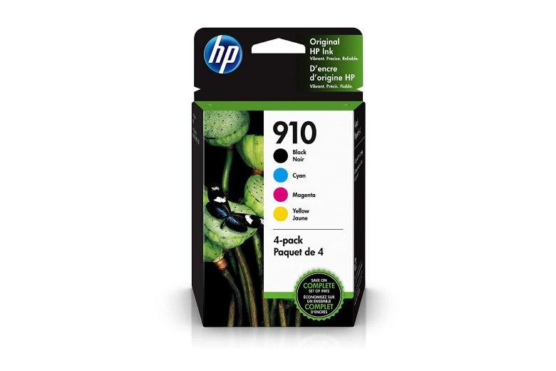 HP 910 ink cartridges box