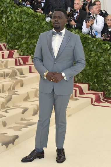NEW YORK, NY - MAY 07:  Daniel Kaluuya attends the Heavenly Bodies: Fashion & The Catholic Imagination Costume Institute Gala at The Metropolitan Museum of Art on May 7, 2018 in New York City.  (Photo by Neilson Barnard/Getty Images)
