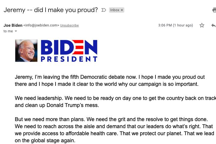 Did Joe Biden Make You Proud