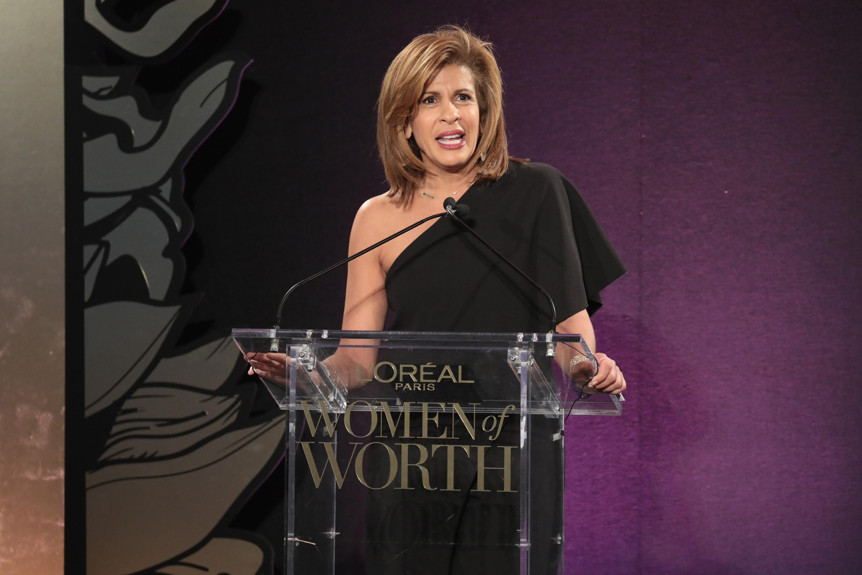 Hoda Kotb speaks onstage during the L'Oreal Paris Women of Worth Celebration on Dec. 6 in New York City.