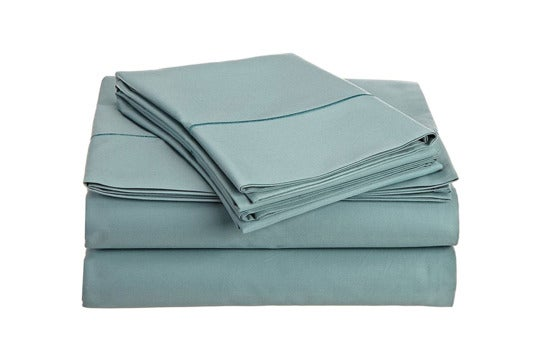 Blue Chateau Home Collection Egyptian cotton sheet set.