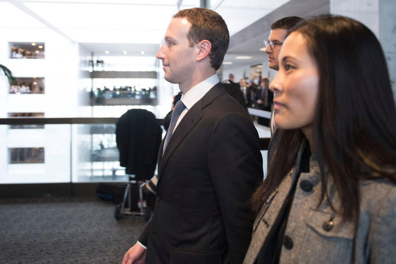 Mark Zuckerberg and Priscilla Chan (R) depart US Senator Bill Nelson's, D- Florida, office on Capitol Hill in Washington, DC, on April 9, 2018.Embattled Facebook chief Mark Zuckerberg has placed the blame for security lapses at the world's largest social network squarely on himself as he girded Monday for appearances this week before angry lawmakers.In prepared remarks released by a congressional panel, Zuckerberg admitted he was too idealistic and failed to grasp how the platform -- used by two billion people -- could be abused and manipulated.