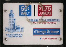 Chicago Tribune vending machine. Click image to expand.