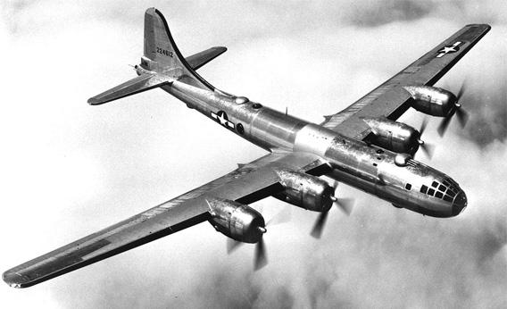 B-29 in flight.