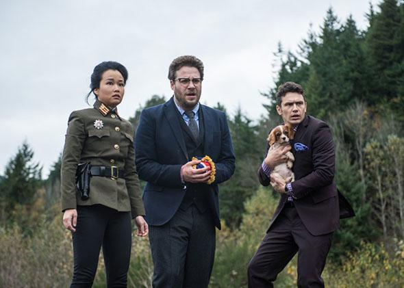 James Franco, Seth Rogen and Diana Bang in The Interview (2014)