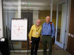 The Global Business Network's Peter Schwartz (left) and Stewart Brand. Click image to expand.