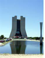 The Fermilab high-rise and the reflecting pool