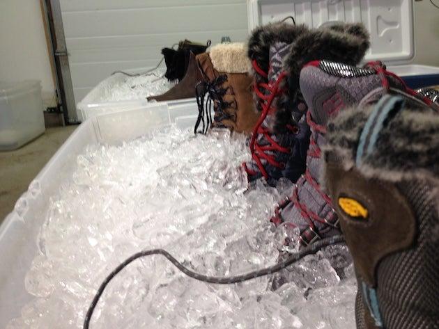 assortment of boots