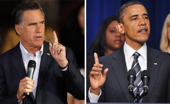 Mitt Romney and President Barack Obama.