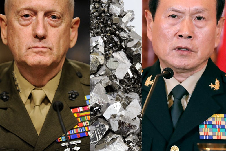 Gen. James Mattis, niobium, and Gen. Wei Fenghe.