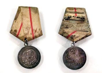 Arad's Partisan Medal, First Degree, received for his service