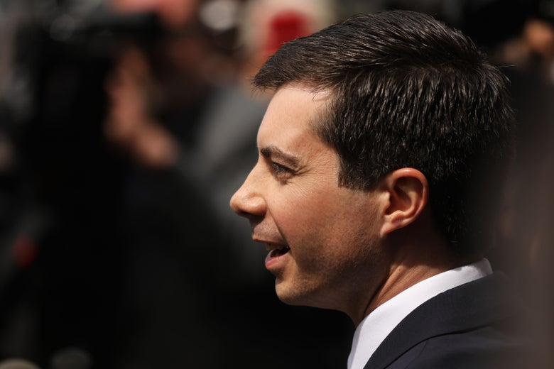 Democratic presidential candidate and South Bend, Indiana, Mayor Pete Buttigieg in Harlem on April 29, 2019 in New York City.