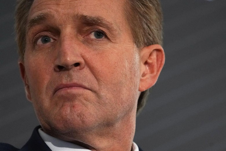A close-up image of Flake's face.