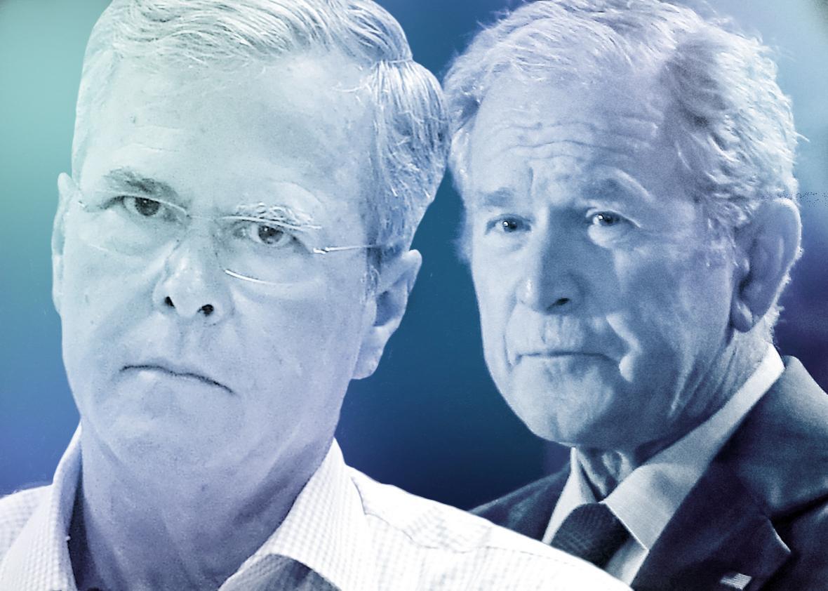 Jeb Bush, George W. Bush.