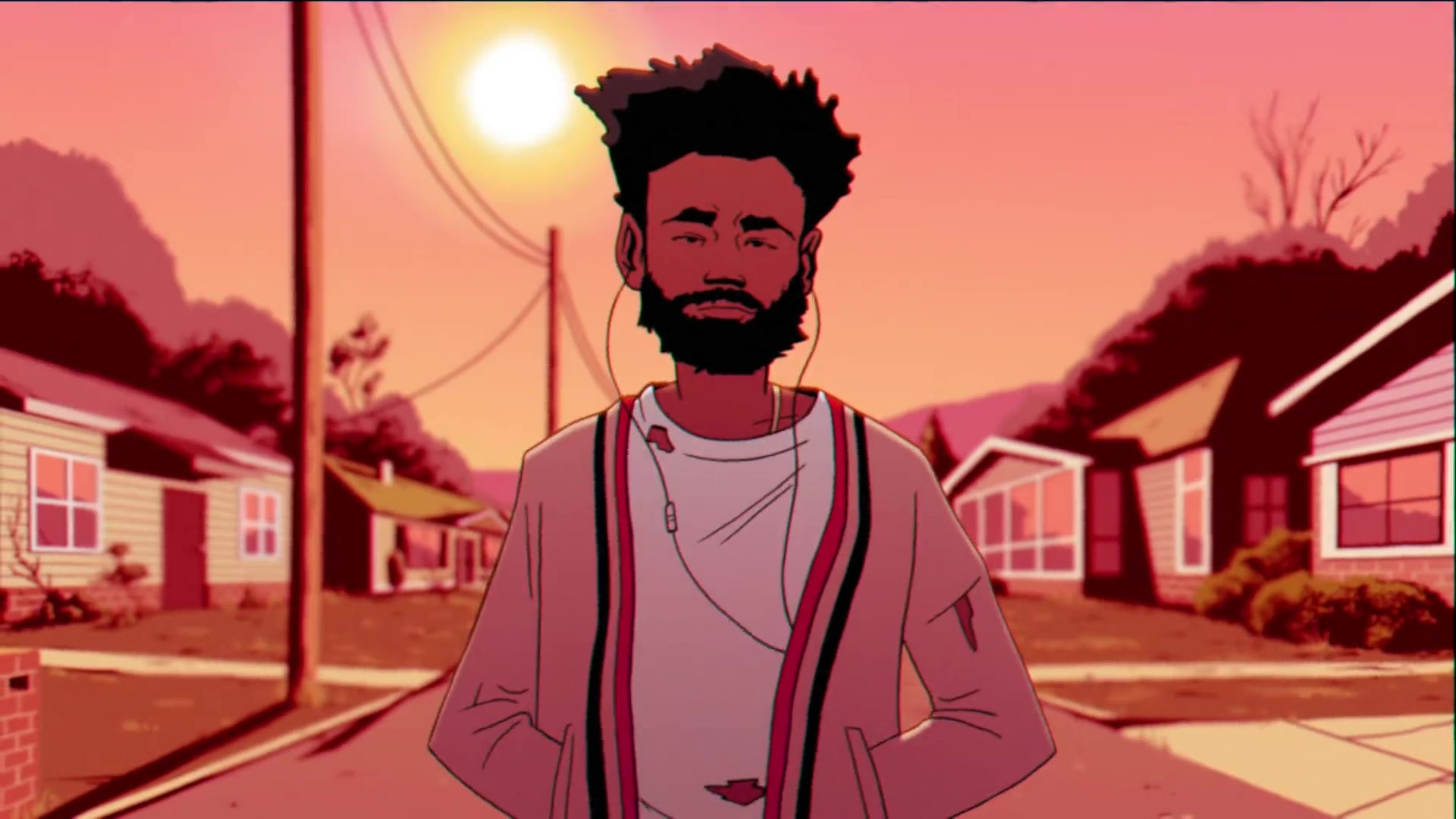 A drawing of Childish Gambino.