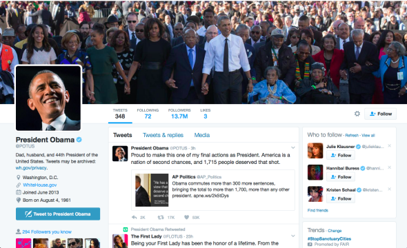 Obama's Twitter background yesterday.