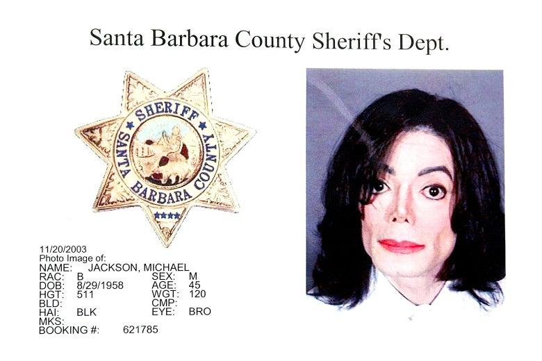 Michael Jackson's 2003 mugshot
