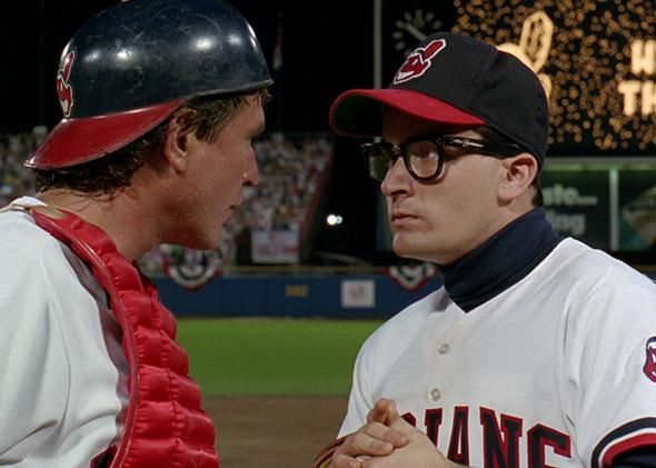 Charlie Sheen in Major League (1989).